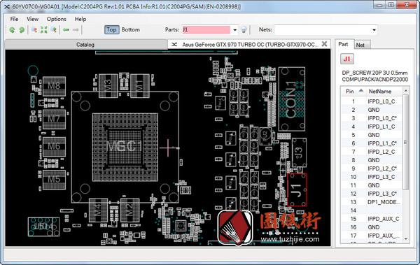 Asus GeForce GTX 970 TURBO OC C2004PG REV. 1.01华硕显卡点位图