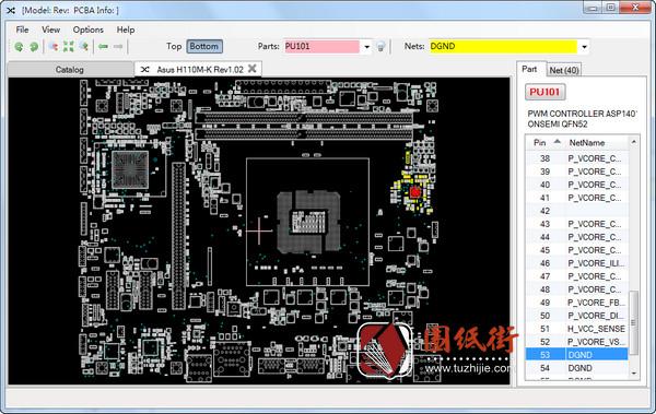 Asus H110M-K Rev1.02华硕主板点位图