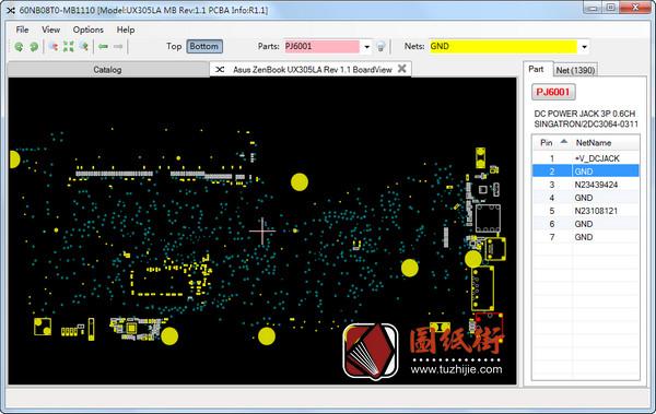 Asus UX305LA Rev 1.1华硕笔记本点位图