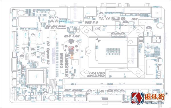 B85MG (IB85D-MHS) Rev 6.0映泰主板PDF点位图