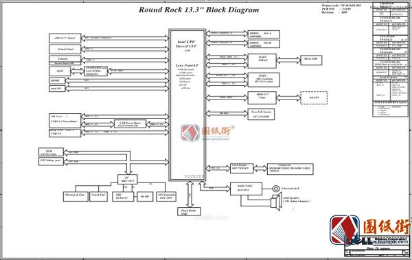 Dell Latitude E3340 DLR30 13229-1 Rev ssl(X00)戴尔笔记本图纸