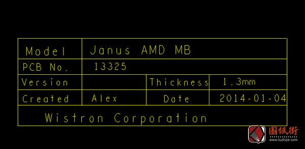 Dell 3445 Janus AMD Beema 13325-1 Rev 1戴尔笔记本点位图