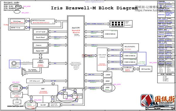 Dell 3552 IRIS BSW 14279-1 REV A00戴尔笔记本图纸