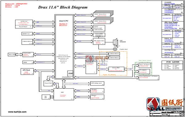Dell 11 3000 Drax SKL-Y 15250-A00戴尔笔记本电路图