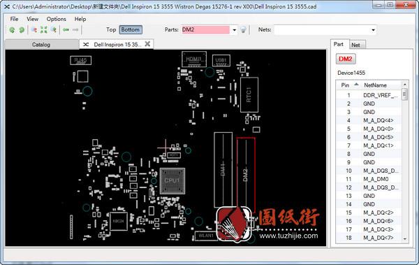 Dell 15 3555 Degas 15276-1 rev X00戴尔笔记本点位图