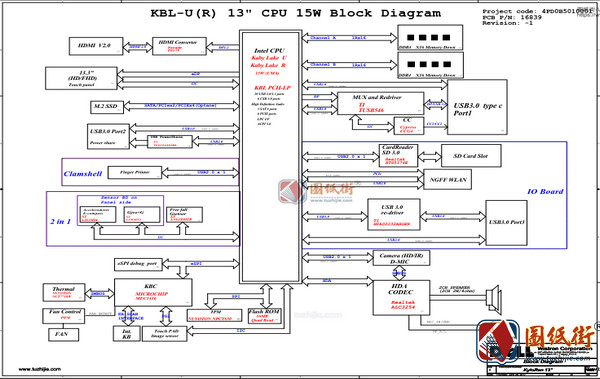 Dell 13-7370 7000 KyloRen 13 Y5HR3 16839-1 Rev -1戴尔笔记本图纸
