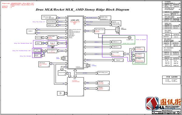 Dell 3185 Drax MLK_Rocket MLK 17837-1 Rev A00戴尔笔记本图纸
