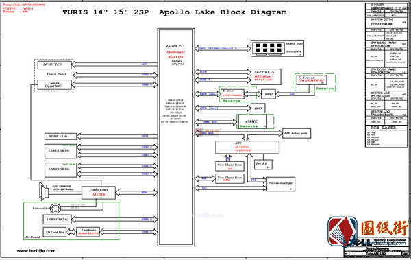Dell 3462 Turis APL UMA 16823-1 Rev A00 戴尔笔记本图纸