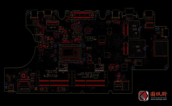Dell E5550 5550l LA-A911P Rev 1.0戴尔笔记本点位图 BRD+CAD