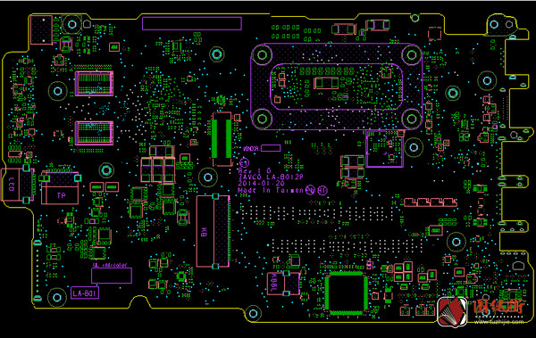 Dell 15 5000 5547 ZAVC0 LA-B012P Rev 1.0戴尔笔记本点位图