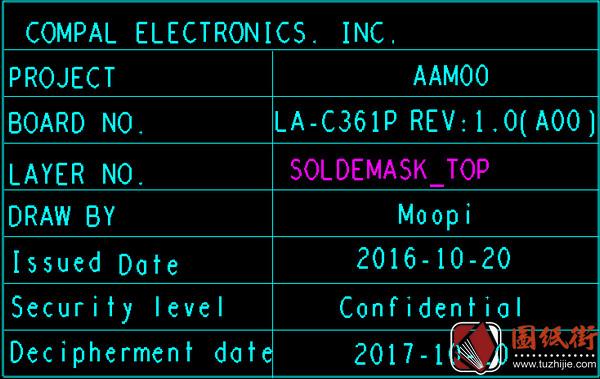 Dell XPS 15 9550 LA-C361P REV1.0戴尔笔记本点位图