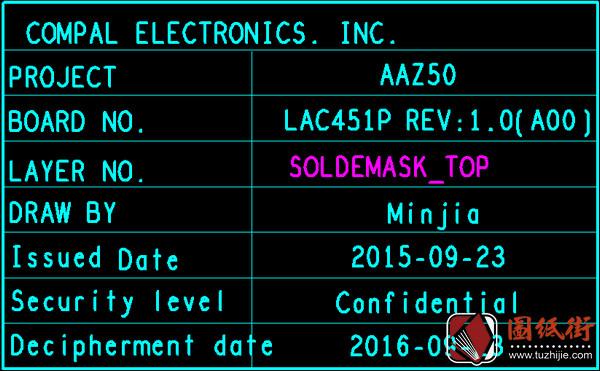 Dell E7270 E7470 LA-C451P AAZ50 Rev 1.0戴尔笔记本点位图