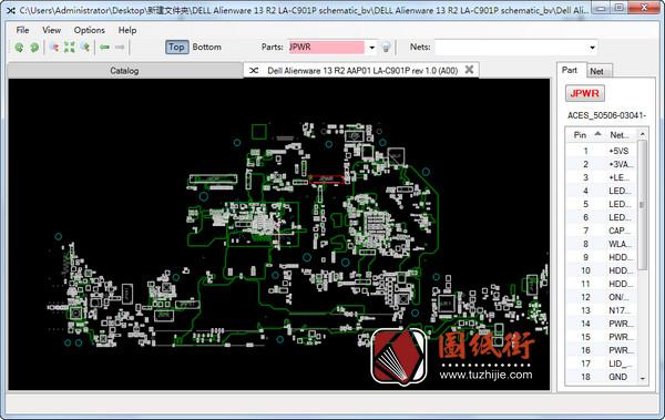 Dell Alienware 13 R2 LA-C901P rev 1.0 (A00) 外星人笔记本点位图
