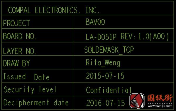 Dell 15-5557 LA-D051P Rev1.0戴尔笔记本点位图