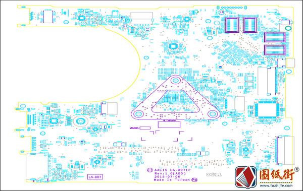 Dell Inspiron 15 5559 AAL15 LA-D071P Rev1.0戴尔笔记本位号图