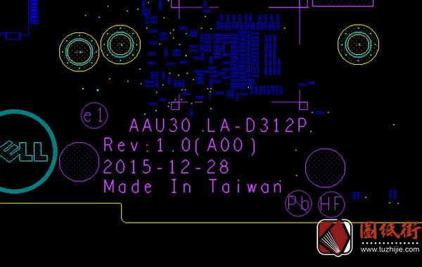 Dell 7370 LA-D312P AAU30 Rev 1.0(A00)戴尔笔记本点位图