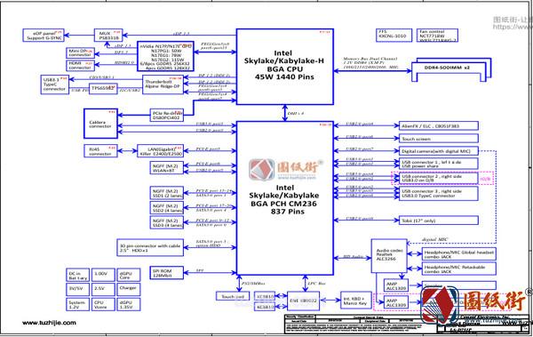 Dell Alienware 17 R4 LA-D751P Rev1.0外星人笔记本电路图