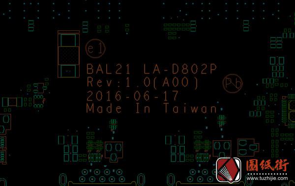 Dell 15-5567 BAL21 LA-D802P REV : 1.0 (A00)戴尔笔记本点位图