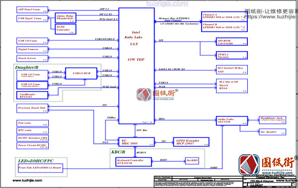 Dell XPS 13 9360 LA-D841P Rev1.0 (A00)戴尔笔记本电路图