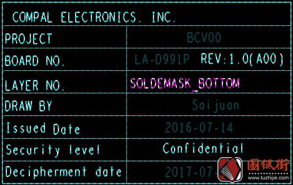 Dell 15 7566 LA-D991P BCV00_BCV10 Rev1.0(A00)戴尔笔记本点位图
