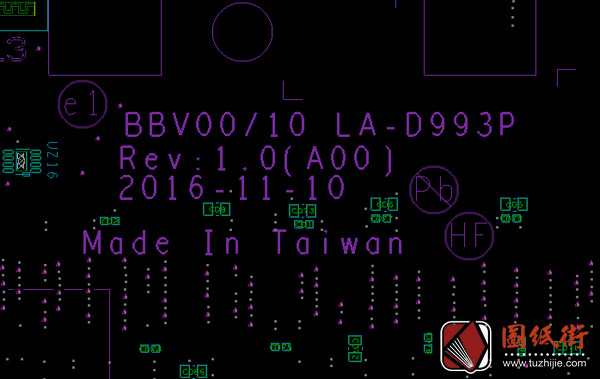 Dell 7567 LA-D993P BBV00 BBV10戴尔笔记本点位图