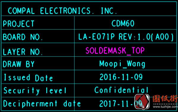 Dell 5280 LA-E071P CDM60 Rev 1.0戴尔笔记本点位图