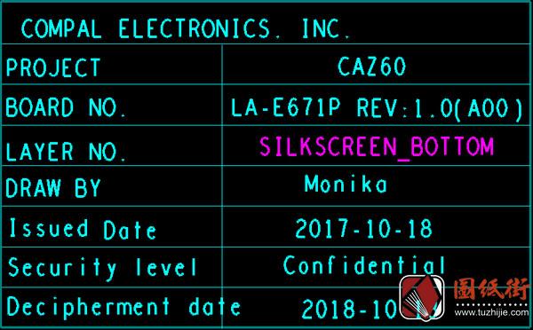 DELL XPS 13 9370 CAZ60 LA-E671P Rev1.0 戴尔笔记本点位图 BRD
