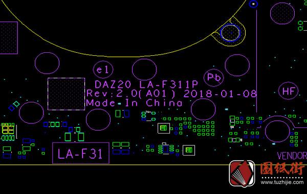 Dell 7290 LA-F311P DAZ20_DAZ30 Rev 2.0(A01) 戴尔笔记本点位图