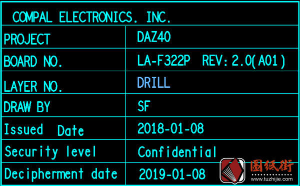 Dell 7290 7390 7490 DAZ40 LA-F322P Rev 2.0戴尔笔记本点位图