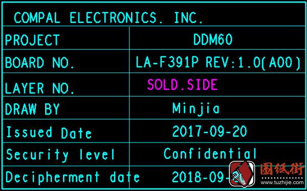 DDM60 LA-F391P点位图.brd