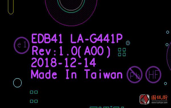 Dell 7400 LA-G441P EDB41 Rev 1.0(A00)戴尔笔记本点位图