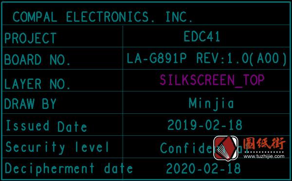 Dell 5400 EDC41 LA-G891P REV : 1.0 (A00)戴尔笔记本点位图纸