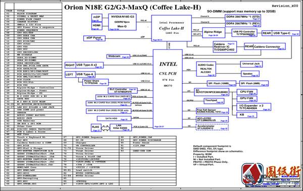 Alienware M15 M17 ORION N18E G2/G3 MaxQ Rev A00 (X00)戴尔外星人笔记本图纸