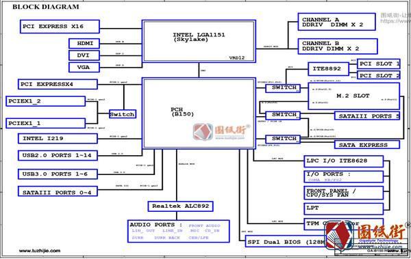 GA-B150-HD3P Rev 1.0技嘉主板电路图