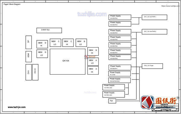 GTX760 GV-N760OC-2GD Rev 2.0技嘉显卡电路图