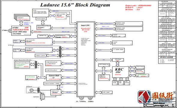 HP Envy M6 X360 Wistron Laduree BDW UMA-DIS 14257-SA惠普笔记本图纸