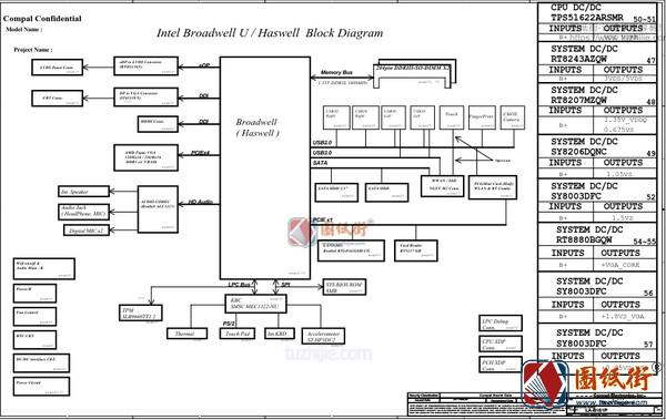HP 440 G2 LA-B181P Rev0.5笔记本原理图