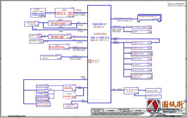 HP 15 ay125nr GDL50 LA-D707P rev 0.2惠普笔记本图纸