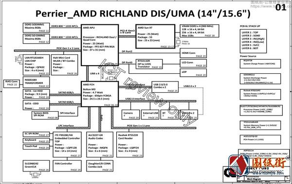 HP 15-n208SR Quanta U92 rev.1A惠普笔记本图纸