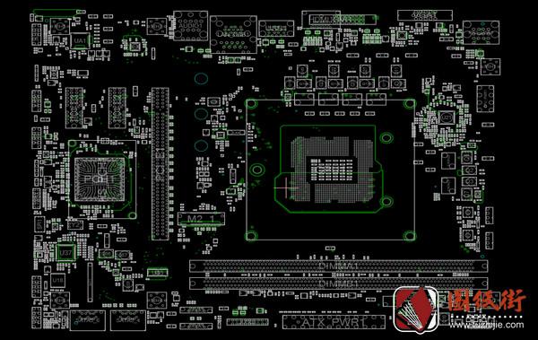 MSI B360M Pro-VH MS-7B53 REV 1.0微星主板点位图CAD