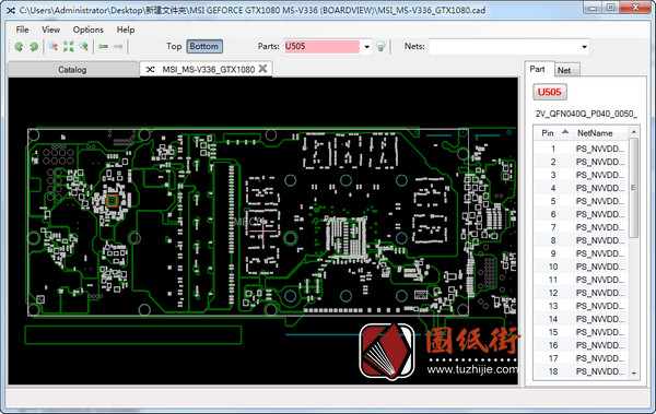 MSI GEFORCE GTX1080 MS-V336微星显卡点位图