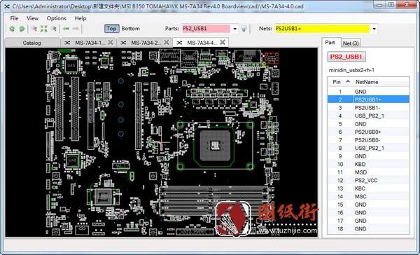 MSI B350 MS-7A34 Rev1.0 2.0 4.0微星主板点位图合集