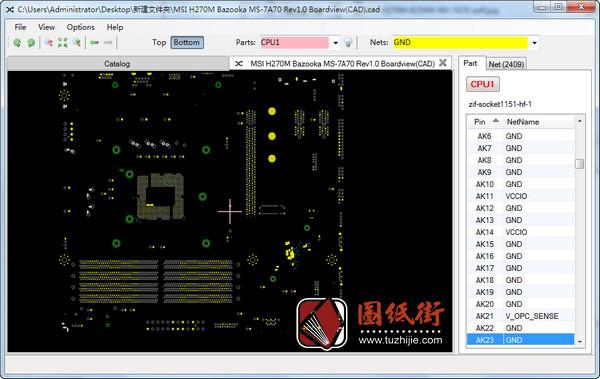 MSI H270M B250M BAZOOKA PRO-VDH MS-7A70 REV 1.0微星主板点位图