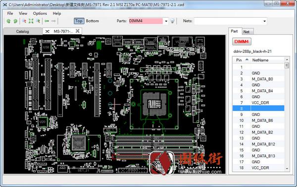 MSI Z170a PC-MATE MS-7971 Rev 2.1微星主板点位图