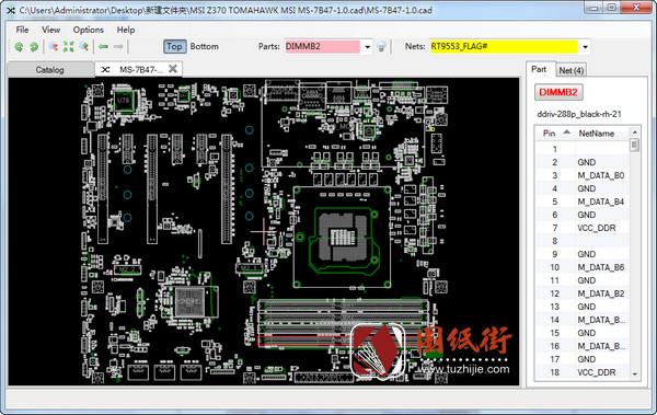 MSI Z370 TOMAHAWK MS-7B47 REV1.0 微星主板点位图cad