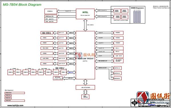 MSI Z370M MORTAR MS-7B54 REV 1.0微星主板图纸