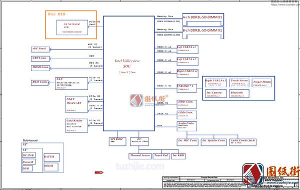 Lenovo B50-30 LA-B101P LA-D101P REV1.0 联想笔记本电路图