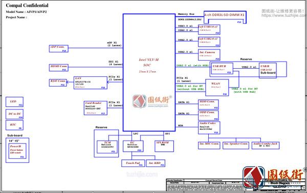 Lenovo 100-14IBY/15IBY B50-10 LA-C771P AIVP1/AIVP2 REV 0.2笔记本图纸