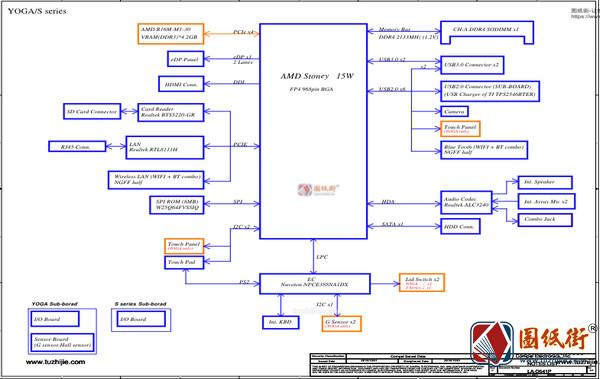 Lenovo Yoga 510-14AST LA-D541P Rev.0.2联想笔记本图纸