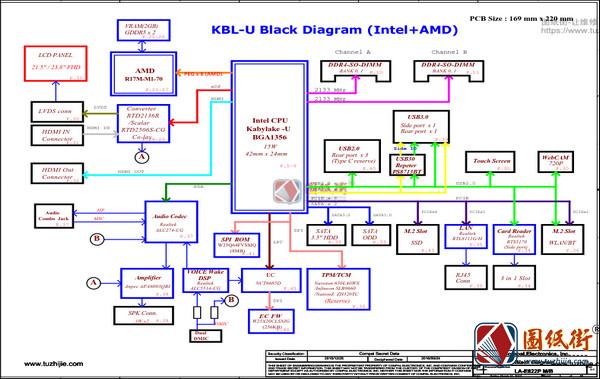 Lenovo AIO 520-22IKU DCA30 LA-E822P Rev 0.2主板图纸
